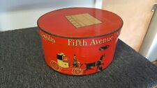 Vintage Dobbs Fifth Avenue New York Hat Box Red No Strap & Buckle