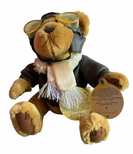 Pickford Bear of Long Life Brass Button RADAR Pilot Bear with Aviator Goggles