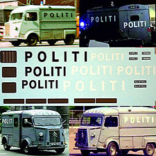 Citroen HY Politi Decals for 4 different cars 1:43 Decal