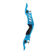 """New 17"""" Right-H Blue ILF Riser Fit Recurve Limbs Hunting Bow Longbow for Archery"""