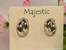 #638 Gorgeous Clip Earrings From Majestic, Super Special Pricing, New On Card