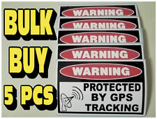 WARNING GPS TRACKING DEVICE SECURITY STICKER DECAL CONSTRUCTION EQUIPMENT x5 787