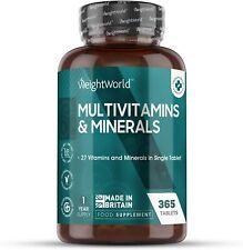 Premium Multivitamine & Mineralien - 27 aktive Vitamine & Mineralstoffe - 365 St