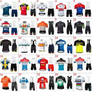 2021 Casual Mens Team Cycling Jersey Bib Shorts Kits Bicycle Tops Short Sleeve