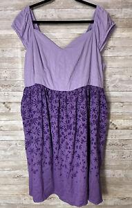 Torrid Disney 3 Women's Tangled Rapunzel Purple Lilac Skater Dress NWT