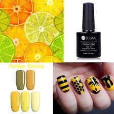 5Pcs/Lot Yellow Series Gel Nail Polish Kit Long Lasting Pigment Manicure 7.5ml