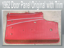 Corvette Parts 1962 Left Survivor Red Door Panel with  2 stainless strips