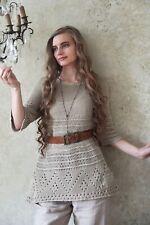 Jeanne D Arc Living Strick Shirt Tunika Gr.XL-XXL JDL Vintage Mode Baumwolle JDL