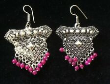Stunning Silver Tone Indian Style Fashion Earrings New