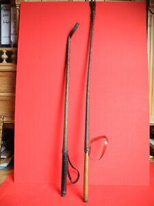 2 antike Reitgerten Reitstock Peitsche sehr biegsam und leicht