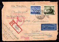Germany 1944 Luftpost Registered Cover (front) Berlin to Ireland WS18608