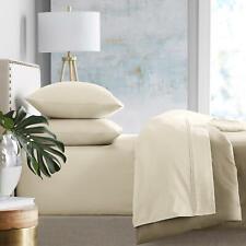 Member's Mark 100% Cotton Flannel Sheet set FULL IVORY Design FAST FREE SHIPPING