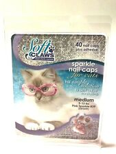 Soft Claws Sparkle Nail Caps for Cats Pink Medium