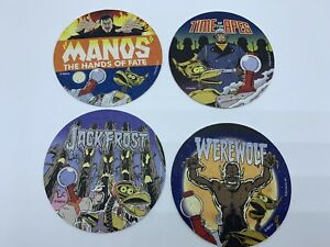 Mystery Science Theater 3000 Coasters Shout Factory Manos, Werewolf - lot of 4