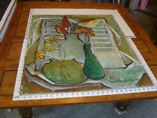 """Original ROSE SUSLOVICH ART: FLOWERS IN VASES, 27X34"""", signed, on masonite"""