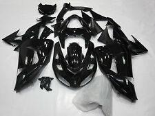 Injesction Gloss Black Fairing kit Bodywork for 2006-2007 Kawasaki Ninja ZX 10R