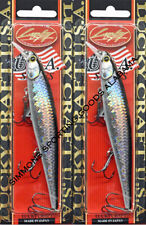 (Lot Of 2) Lucky Craft Slender Pointer 127Mr 3/4Oz Po127Mr-765 Ms Anchovy B8202