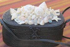 Dewi Hand Woven Bag w/Shells-Pearls-Crystals