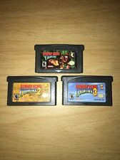 Donkey Kong Country 1, 2, and 3 Lot for Nintendo Game Boy Advance (GBA)