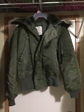 Alpha Industries Jacket Mens Flying Heavy N2B Attached Hood S Army Green USA