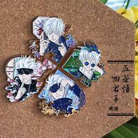 Jujutsu Kaisen Gojo Satoru Four Gentlemen Metal Brooch Badge Pin Gift cosplay