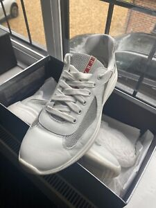 Prada American Cup, Leather & Mesh Sneakers - 100% Authentic