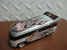 Loose Hot Wheels 2012 Mexico Convention Silver/White  Volkswagen Drag Bus w/RR's