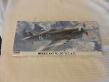 """Hasegawa Hurricane Mk. IIC """"S.E.A.C."""" Fighter 1/72 Scale Model Kit #00648"""