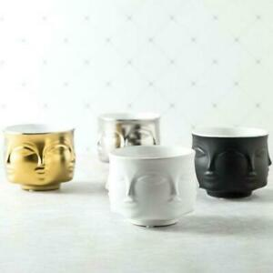 Ceramic Vase Face Flower Pot Planter Head Figure Design Holder Home Decorations