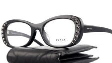 New Authentic PRADA Eyeglasses VPR 21R -F 1AB Black Designer Frames NR