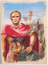 Dessin gouache illustration couverture de livre daté 1952 Centurion Empereur