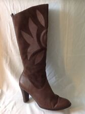 Marks&Spencer Brown Knee High Leather Boots Size 8
