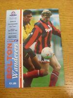 30/10/1993 Bolton Wanderers v Derby County  (team changes). Footy Progs (aka bob