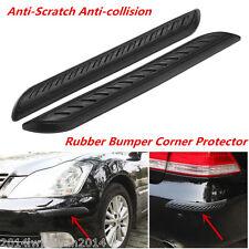 2Pcs Car Front / Rear Bumper Corner Rubber Protector Guard Scratch Cover Sticker