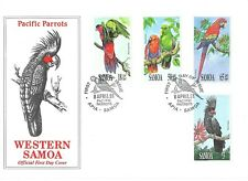 """Samoa FDC 1991 Pacific Parrots Combo First Day Cover, """"Great Colorful  Parrots"""""""