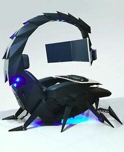 Deluxe computer chair recliner gaming cockpit zero gravity titling 1-3 monitors