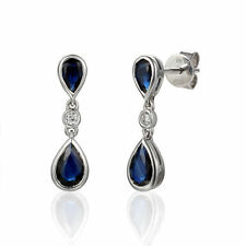 Butterfly Drop/Dangle Sapphire Natural Fine Earrings