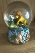 More details for disney the lion king circle of life musical snow globe enesco - good condition