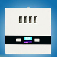 Universal Wall Charger 5V 3A 4 USB Port 86 Wall Socket LED Charging For Home UK
