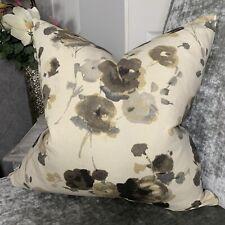 "Cushion Cover 16"" Designer iLiv Fabric Mocha Grey Beige Decor Countryside Homes"
