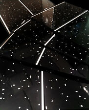 10 Black Sparkle Diamond & Chrome PVC Wet Wall Bathroom Panels Shower Cladding