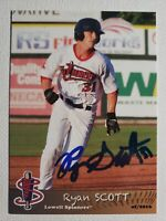 2016 Grandstand Ryan Scott Autograph Card Red Sox Lowell Spinners, Auto