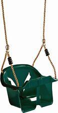 SEDILE ALTALENA BAMBINO SECCHIELLO verde con cintura di sicurezza e anti-Tilt e Anti-Slip nodi