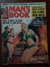 MAN'S BOOK periodical Magazine Pulp October 1964 Nazi torture bondage RARE