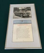 1960 Jaguar XK 150 CONVERTIBLE Press Release, News Bulletin Sheet RARE