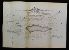 1878 Map Arkansas River Removal of Bar in Front of Fort Smith Maj. Charles Suter