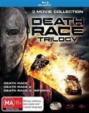 Death Race Trilogy Deason Race 1 + 2 + 3 Inferno Blu ray Set RB New Sealed