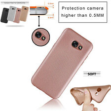 Luxury Carbon Fiber TPU Gel Case Cover For Samsung Galaxy J3/J5/J7 Prime&A3 2017