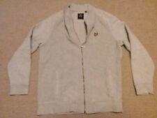 Lyle & Scott Light Grey Knitted Look Zip Up Jacket / Cardi Size L