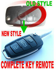 NEW R8 STYLE FLIP KEY REMOTE FOR AUDI KEYLESS ENTRY CHIP TRANSPONDER 4D0837231P
